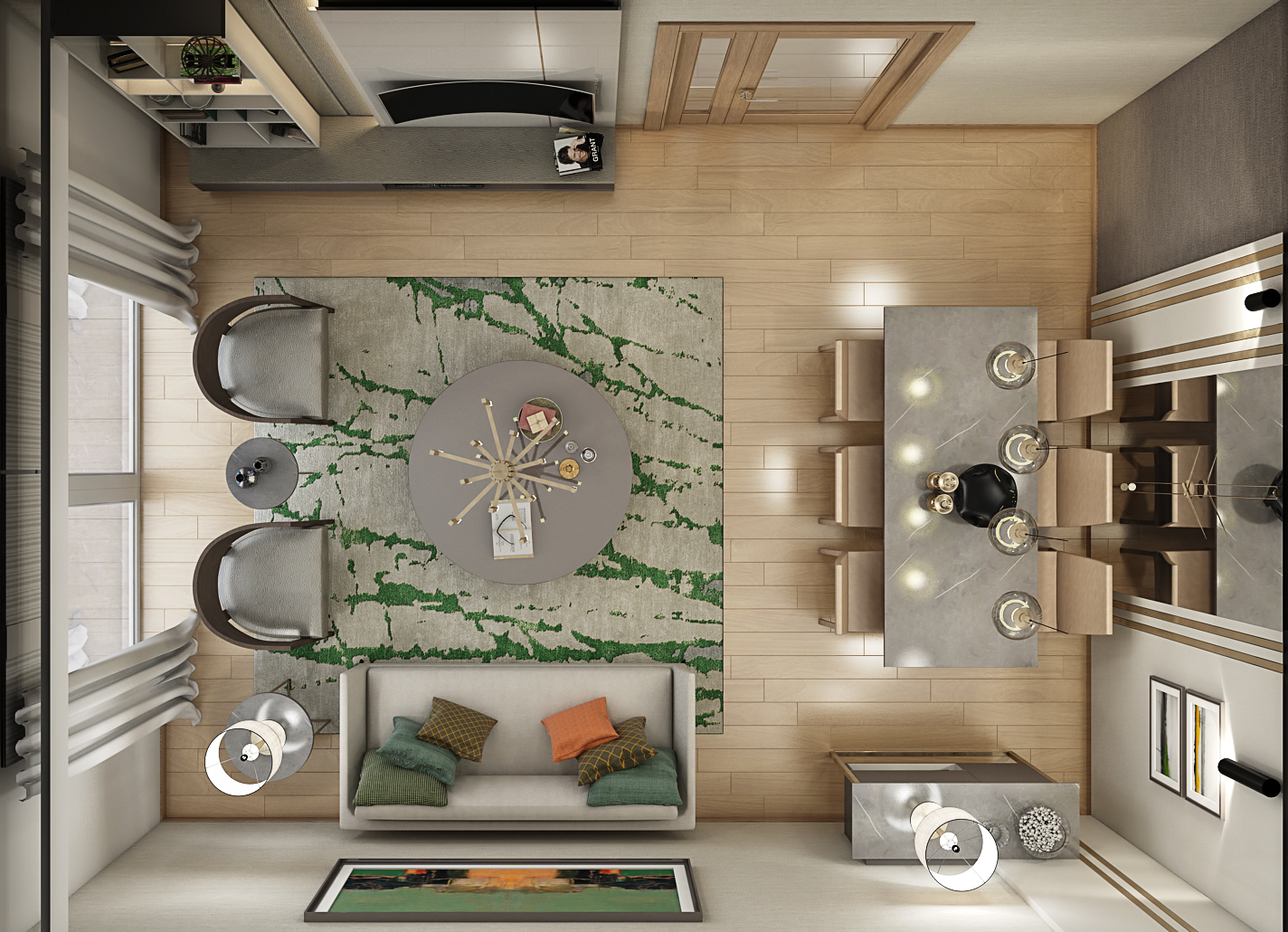 Super Luxury Model Staging Apartment Home Furniture